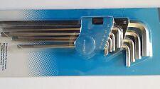 "Silverline 589679 10pc Imperial Expert Hex Allen Key Set 1/16-3/8"" Socket Wrench"