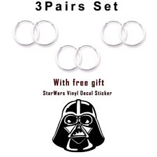 Mini Hoop Earrings Sterling Silver 925 3pairs Set 11 mm Darth Vador USA Seller