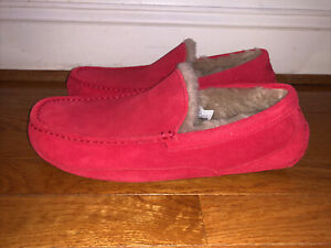 UGG ASCOT 1101110 red Holiday MEN'S SLIPPERS Sz 12, WATER-RESISTANT NWOT