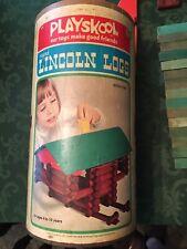 PLAYSKOOL LINCOLN LOGS Scout 1974 Vintage Pioneer Set