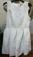 Ted Baker London Embellished Skater Dress JEWEL Neck Size 4 (12 Us)