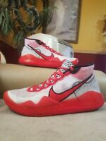 Nike Kd 12 Youtube Mens size 10 White And Red Basketball shoes
