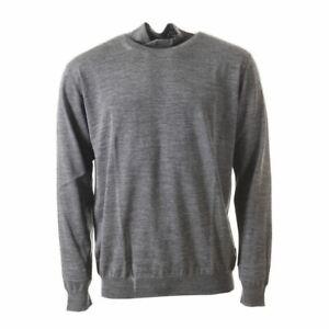 LANVIN Sweater Grey Wool Ripped Detail Size XL AP 298