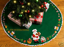 "Bucilla Santa's Sweet Shop ~ 43"" Felt Christmas Tree Skirt Kit #86188 Table Top"