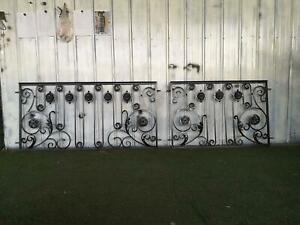 BEAUTIFUL WROUGHT IRON ART NOUVEAU FENCE AND GATE PANELS - ANIP1