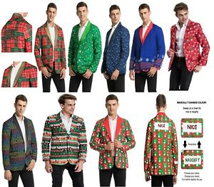 Men's Adult Christmas Costumes Blazer Funny Xmas Bachelor Party suit Jacket New