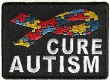 Cure Autism Puzzle Pieces Ribbon Embroidered MC Motorcycle Biker Patch PAT-3537
