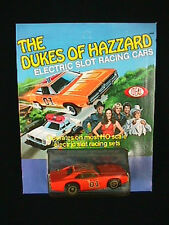 NOS 1981 DUKES OF HAZZARD GENERAL LEE HO SLOT CAR WITH FLAG MOC 34 years old