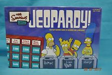 The Simpsons Edition Jeopardy! Board Game #5455 Ages 12+ 2003 New Factory Sealed