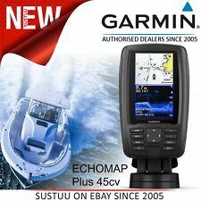 """Garmin 4"""" ECHOMAP Plus 45cv│GPS Sonar CHIRP Fishfinder Chartplotter + UK/Ire G2"""