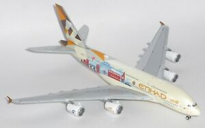Airbus A380 Etihad Airways London JC Wings Diecast Collectors Scale 1:400 A6-APC