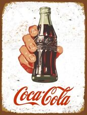 Vintage METAL COCA COLA Advertising COKE Bottle Retro Bar Pub Shed Man Cave SIGN