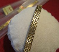 "NEW 5 1/4"" Stretch Speidel ""Caviar"" Gold Filled Ladies Watch Band...LQQK"