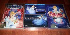 2 BLU RAY CENERENTOLA COFANETTO 2 DVD CENERENTOLA 2 E 3 NUOVI SIGILLATI DISNEY