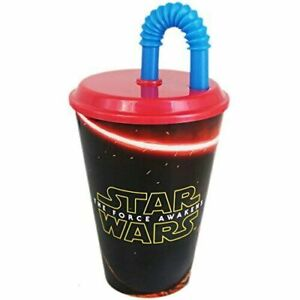 Star Wars Hard Plastic Cup (Set of 2) The Force Awakens - Pahar - With Straw