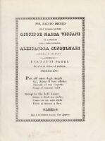 Ode alla nozze di Giuseppe Maria Vissani di Camerino e Alessandra Condulmari