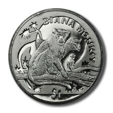 Sierra Leone Diana Monkey $1 2009  BU Crown