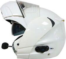Caschi opaci bianchi per la guida di veicoli bluetooth