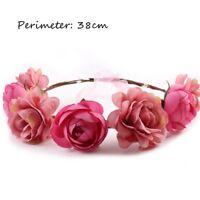 Women Hair Garland Festival Boho Wreath Headband Floral Wedding Flower