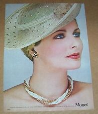 1980 print ad page - Cristina Ferrare Monet fashion jewelry Vintage Advertising
