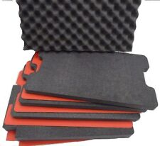 1510 tool foam inserts for Pelican 1510 - 4 Black foam with red ABS Hard plastic