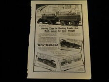 Vintage 1918 Troy Trailer with Coke Print Ad Coca Cola Q225