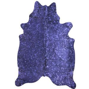 Super Size Metallic Finish Genuine Cow Hide with Purple finish