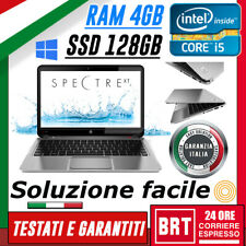 PC NOTEBOOK PORTATILE HP SPECTRE XT PRO 13 CPU i5 4GB RAM SSD 128GB WIN 10 PRO
