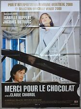 Affiche MERCI POUR LE CHOCOLAT Isabelle Huppert JACQUES DUTRONC 120x160cm *
