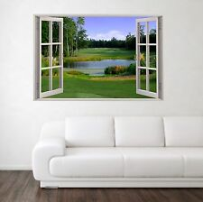 Campo da golf 1 scena 3d Full Color Finestra Casa Wall Art Decalcomania Murale Adesivi