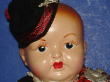 "Vintage 16"" Composition and Cloth Scottish Boy 1930s-on"