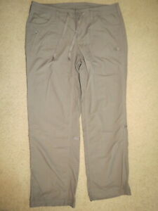 SUPER The North Face brown roll-up hiking / trail pants - womens 14