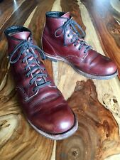 Red Wing Beckman Heritage Black Cherry Leather Boots 9011 Round Toe Mens 9.5 D