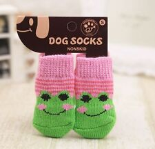 Pet Cat Dog Punny Non-skid Socks Paw Protecters Us Seller