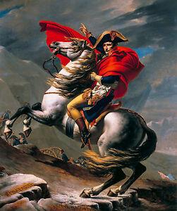 Jacques-Louis David - Napoleon at the Great St. Bernard Art Poster, Canvas Print