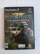 PS 2 SOCOM 3     BLACK  LABEL COMPLETE