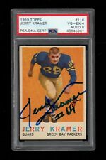 1959 Topps FB #116 Jerry Kramer Green Bay Packers AUTO RC PSA/DNA VG-EX 4 !!