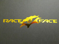 Race Face mountain bike sticker/decal chrome gold, Intense, Orange Nukeproof