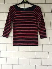 WOMEN'S 90'S URBAN VINTAGE RETRO STRIPE RALPH LAUREN JUMPER UK 12/14