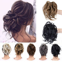 LARGE Curly Messy Hair Bun Hair Piece Scrunchie Thick Hair Updo Extension US