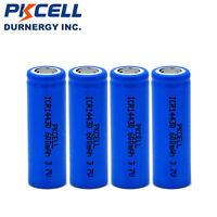 4 ICR14430 Battery Li-ion wiederaufladbare Batterien 3.7V 600mAh Akkus Flat top