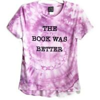 The Book Was Better Hand Tie Dyed Graphic T-Shirt Women's Medium Modern Lux Boho