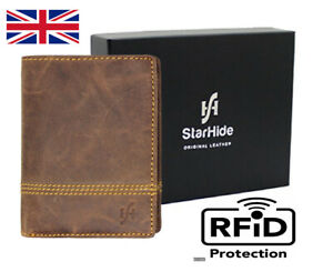 StarHide RFID BLOCKING Mens Small Wallet Purse Coin & ID Pocket Gift Boxed 1195