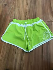Women's Athleta Running Loose Fit Lined Athletic Shorts Green/white  Size Small