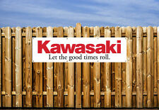 KAWASAKI MOTORBIKE  PVC BANNER - FOR WORKSHOP, GARAGE & BEDROOM
