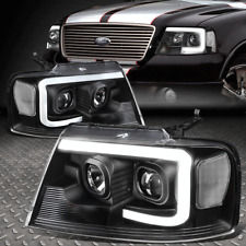 [3D Led Drl]For 04-08 Ford F-150 Mark Lt Projector Headlight Lamps Black/Clear