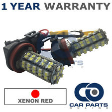 2x CANBUS ROSSO H8 60 LED SMD Fendinebbia LAMPADINE PER BMW 3 5 7 SERIE X 1