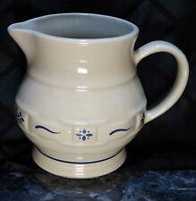 Longaberger Pottery 1 Qt. Pitcher, Classic Blue