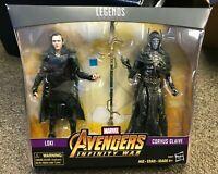 Marvel Legends MCU Corvus Glaive + Loki Avengers Infinity War Walmart IN HAND