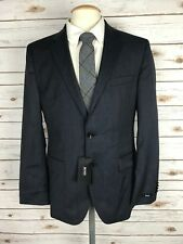 New HUGO BOSS Grand Central Mens Navy Blue Plaid Suit Jacket Sport Coat 38R